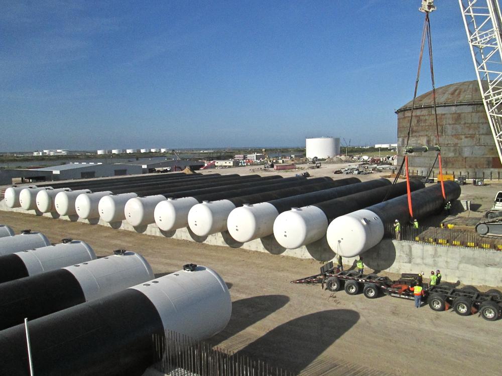 LPG underground storage tanks -  installation