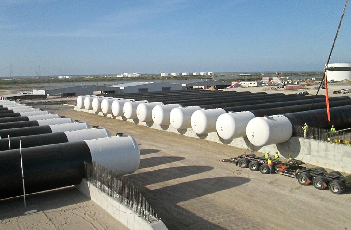 LPG Underground Tanks - Storage Terminal
