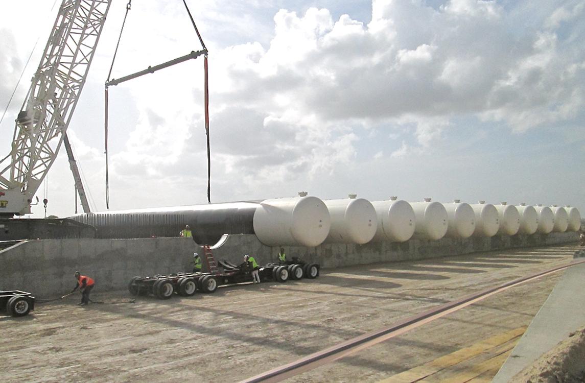 NGL LPG Rail Terminal - ASME Pressure Vessels