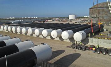 NGL Storage Tanks multiple tank terminal