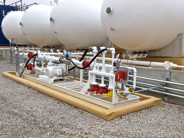 Scalable Modular NGL LPG Propane Storage Tank on skid