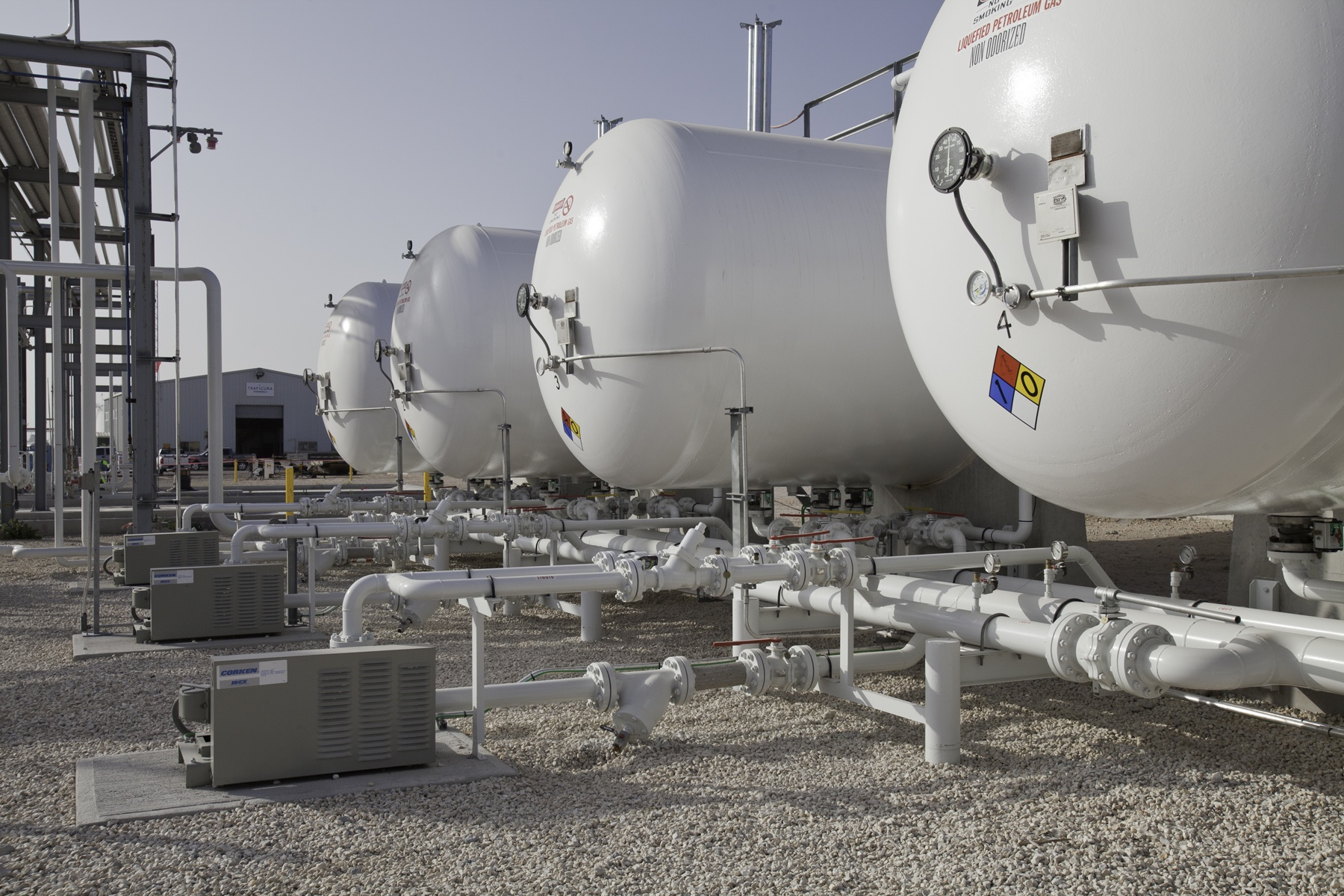 NGL & LPG storage tanks -  infrastructure