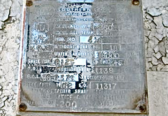 18,000 Gallon Propane Tank Used Data