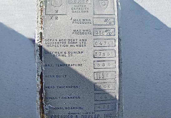 30K Stubby LPG Tank Data