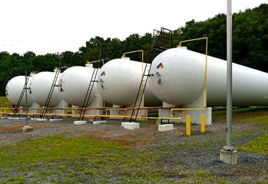 60,000 Gallon Propane, LPG, NGL Storage Bullet Tanks