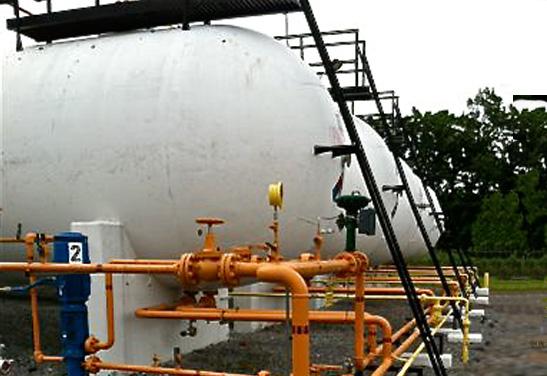 60,000 Gallon Propane, LPG, NGL Storage Bullet Tanks 2