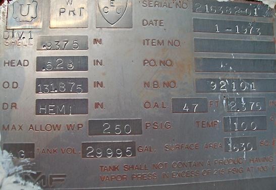 Used Propane Tanks Used ASME Tanks Data