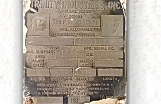 Trinity 30,000 LPG Tank Data