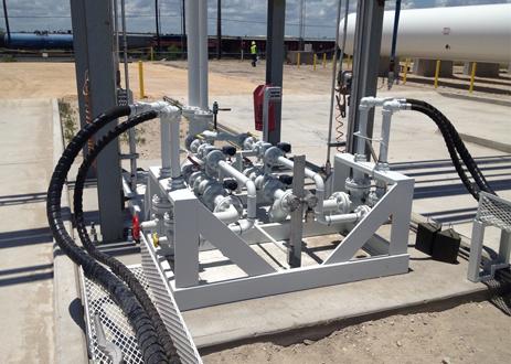 Portable LPG NGL Storage liquid transfer skid