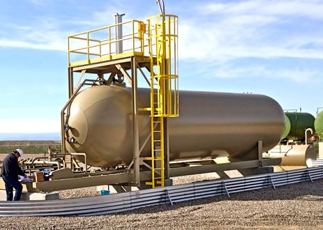 Portable LPG NGL Storage skid mounted lpg ngl storage tank