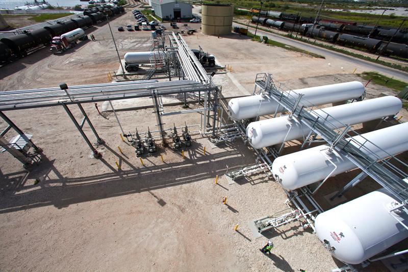 LPG storage tank infrastructure