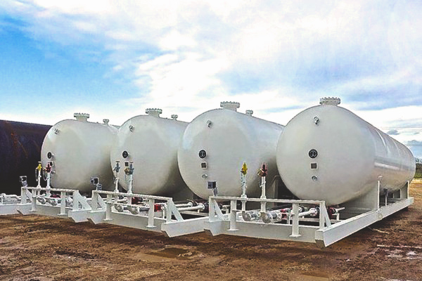 18,000 Gallon NGL LPG Propane Storage Tank Skids for Sale