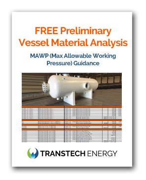FREE ASME Pressure Vessel Material Analysis - MAWP - Max Allowable Working Pressure Guidance