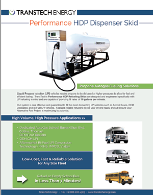 Performance HDP - Propane Autogas Fueling Dispenser System - Free Brochure