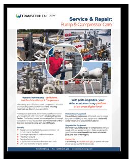 Pump & Compressor Maintenance & Repair - Free Brochure