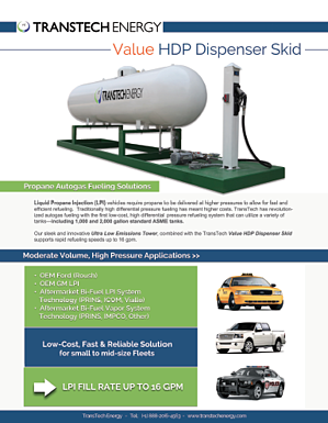 Value HDP - Propane Autogas Fueling Dispenser System - Free Brochure