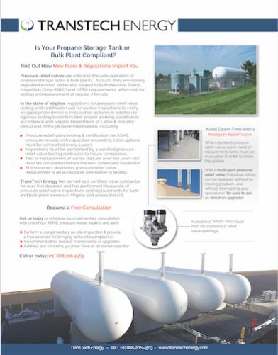 LPG/Propane Relief Valve Compliance | TransTech Energy