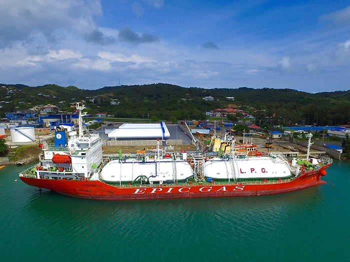 Marine Import of Propane for power generation