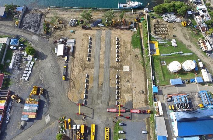 Modular LPG Terminal - Row of Tank Piers