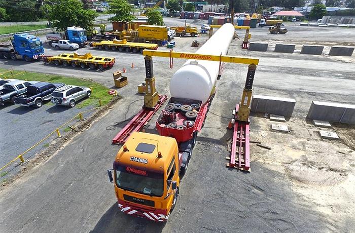 Modular Terminal Construction - Unloading First LPG Tank