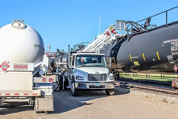 LPG NGL Transloading - Rail to Bobtail Truck Loading