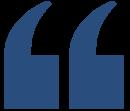 Blue Quote Quotation Mark - LEFT