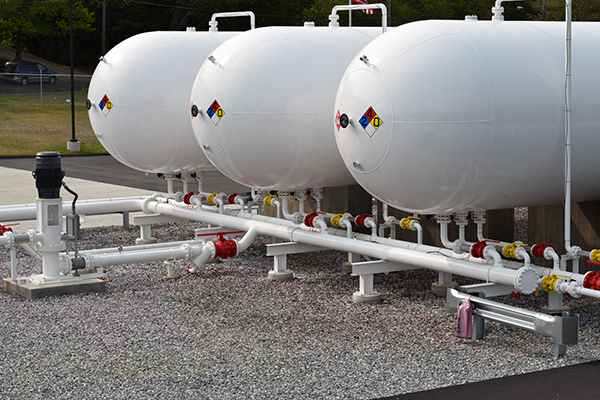 LPG Propane NGL Tank Valving and Instrumentation