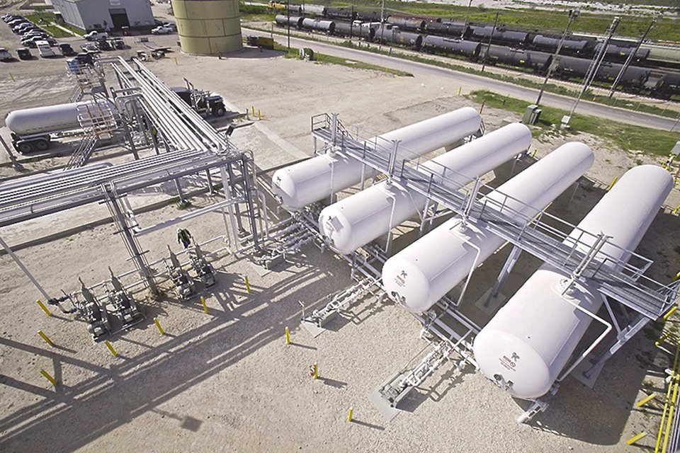 LPG Storage Bullets for Rail Truck Terminaling