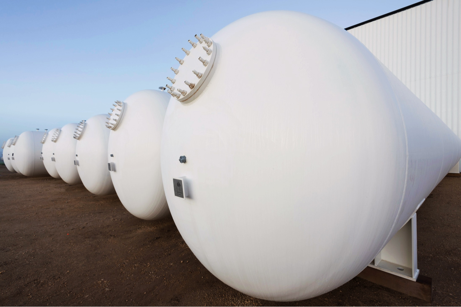 Large LPG Storage Bullets - Engineering & Fabrication Services