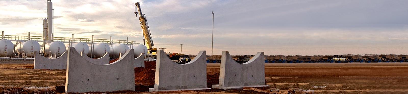 NGL LPG Propane Butane Pre-Cast Concrete Tank Piers and Saddles__.jpg